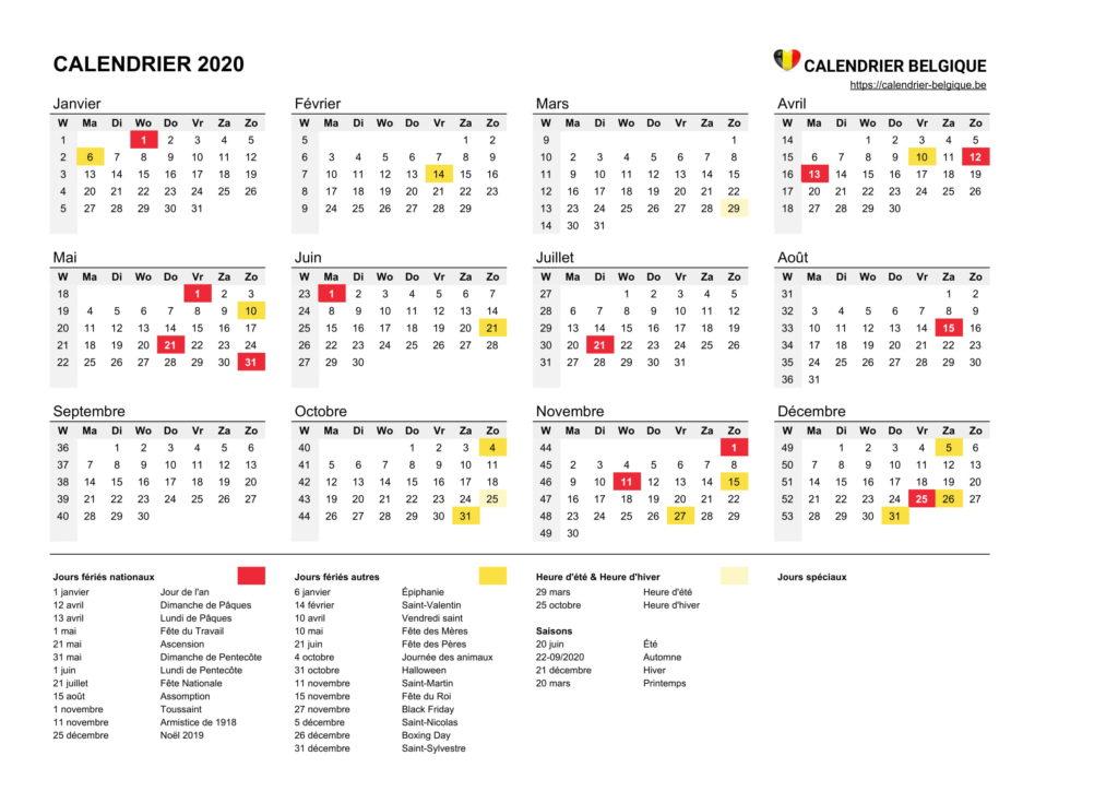 Calendrier Coupe Du Monde 2020 Excel.Calendrier 2020 A Personnaliser Gratuit